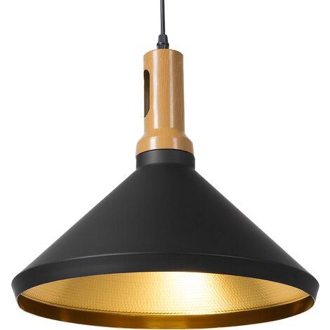 Lámpara de techo negro/dorado LIARD