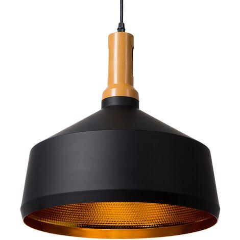 Lámpara de techo negro/dorado SEPIK
