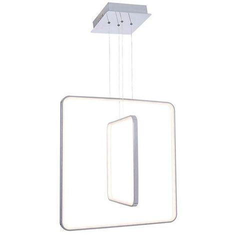 Lampara de Techo Newz - Luz de techo - para el Muro - Gris en Metal, Acrilico, 60 x 60 x 120 cm, LED 92W