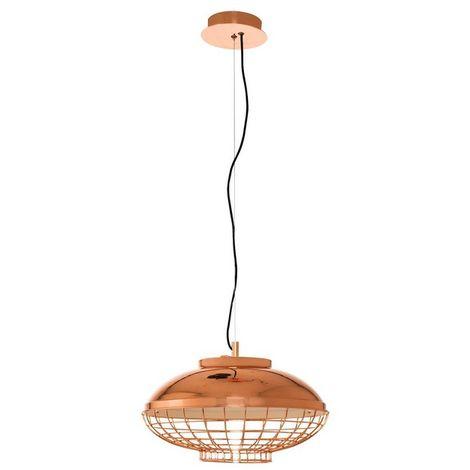 Lampara de Techo Newz - Luz de techo - una suspension - Oro Rosa en Metal, 40 x 40 x 120 cm, LED 9W