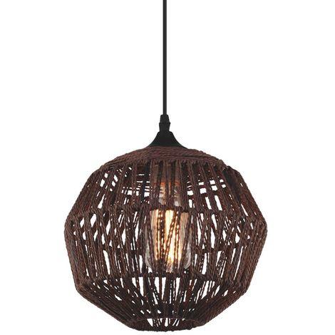lámpara de techo de ratán irwin