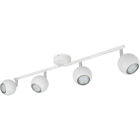 Lámpara de Techo Orientable Ates 4 Focos Blanco Blanco