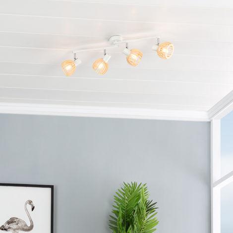 Lámpara de Techo Orientable Chira 4 Focos Blanco Blanco