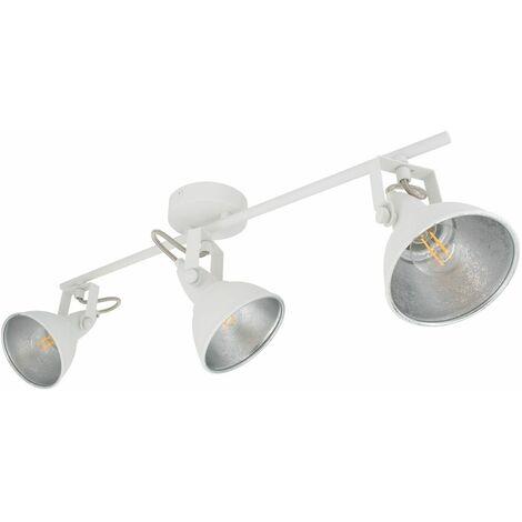 Lámpara de Techo Orientable Emer 3 Focos Blanco Blanco