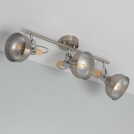 Lámpara de Techo Orientable Emer 3 Focos Plata PlataPlata