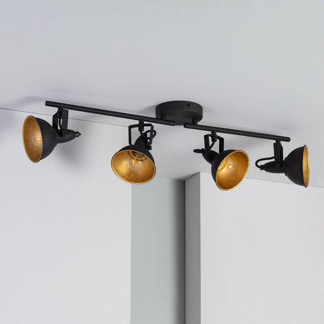 Lámpara de Techo Orientable Emer 4 Focos Negro Negro - Negro