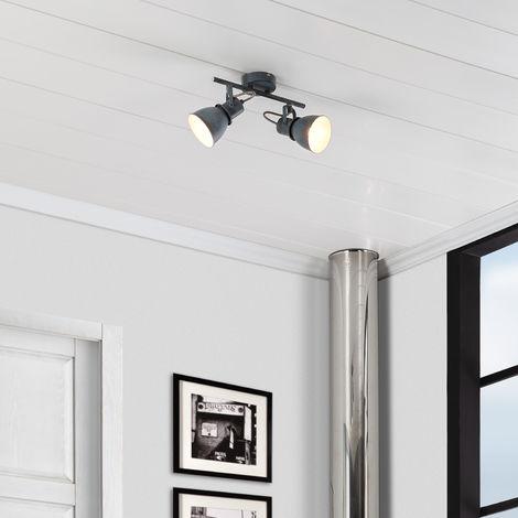 Lámpara de Techo Orientable Emery 2 Focos Gris Gris