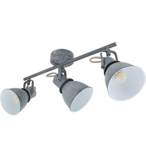 Lámpara de Techo Orientable Emery 3 Focos Gris Gris