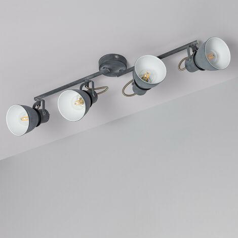 Lámpara de Techo Orientable Emery 4 Focos Gris Gris