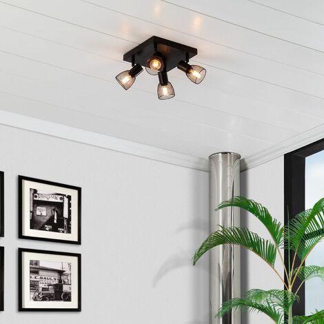 Lámpara de Techo Orientable Grid 4 Focos Negro Negro