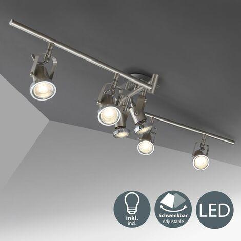 Lámpara de techo orientable I incl. 6 bombillas de 5 W I 6 Focos flexibles I Sportlight I Moderna