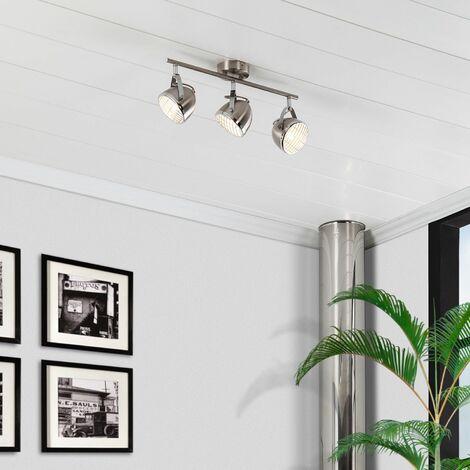 Lámpara de Techo Orientable Izga 3 Focos Plata PlataPlata