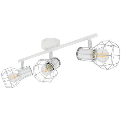 Lámpara de Techo Orientable Lada 3 Focos Blanco Blanco