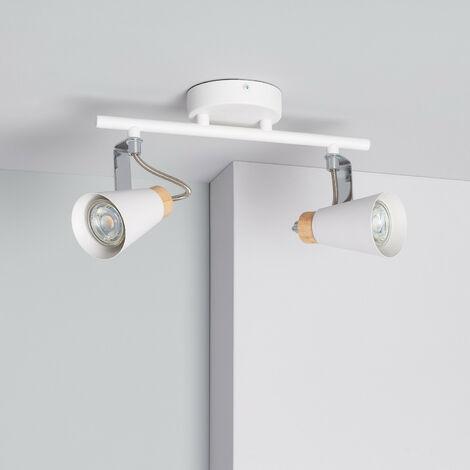 Lámpara de Techo Orientable Mara 2 Focos Blanco - Blanco