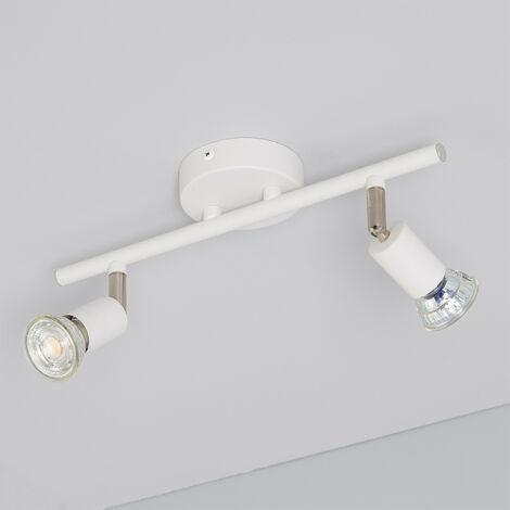 Lámpara de Techo Orientable Oasis 2 Focos Blanco Blanco