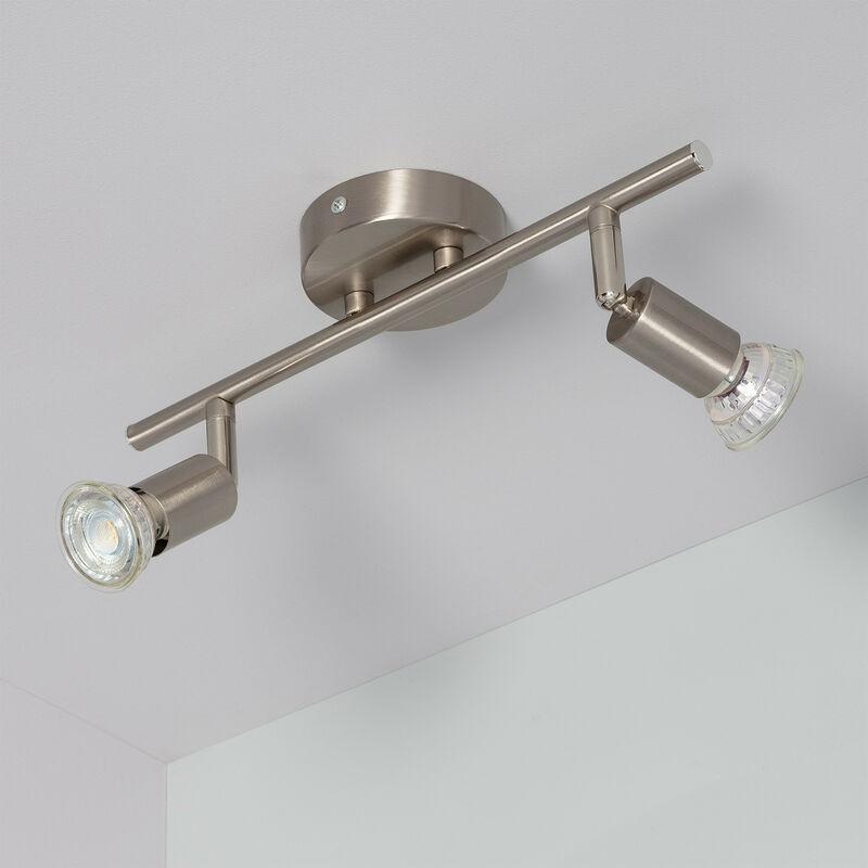 Lámpara Techo Oasis Focos Plata 2 De Orientable KJc3l1TF
