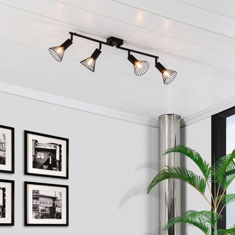 Lámpara de Techo Orientable Royal 4 Focos Negro Negro