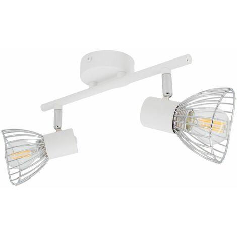 Lámpara de Techo Orientable Saban 2 Focos Blanco Blanco