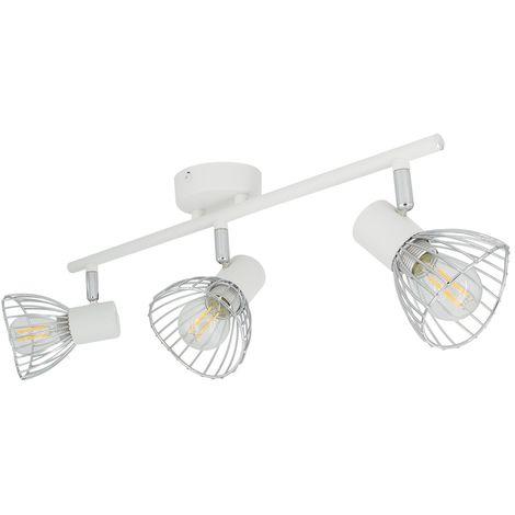 Lámpara de Techo Orientable Saban 3 Focos Blanco Blanco