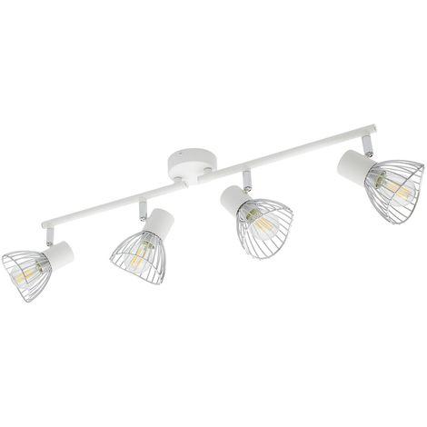 Lámpara de Techo Orientable Saban 4 Focos Blanco Blanco