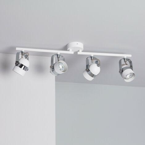 Lámpara de Techo Orientable Sinner 4 Focos Blanco Blanco