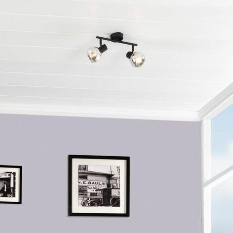 Lámpara de Techo Orientable Terni 2 Focos Negro Negro