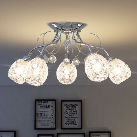 Lámpara de techo para 5 bombillas G9 200 W