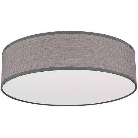 Lámpara de techo para sala de estar óptica de madera focos pasillo gris claro en un conjunto con iluminación LED