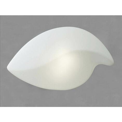 Lámpara de techo / pared Natura Outdoor Large 2 Bombillas E27 IP44, blanco mate / blanco opal