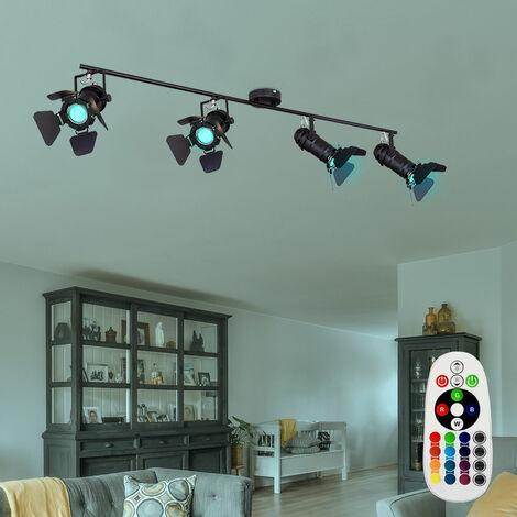 Lámpara de techo Pasillo Foco Haz de luz Lámpara de techo DIMMER en un conjunto con iluminación LED RGB