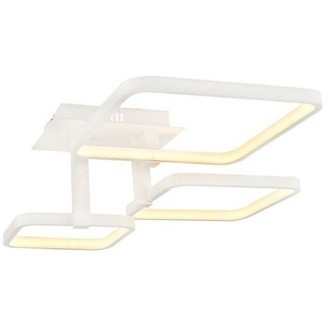 Lampara de Techo Plaza Plafon - Cuadrada - de Pared - Blanco en Metal, 55 x 55 x 20 cm, 1 x LED, 57W, 5985LM, 4200K Luz Blanca Natural