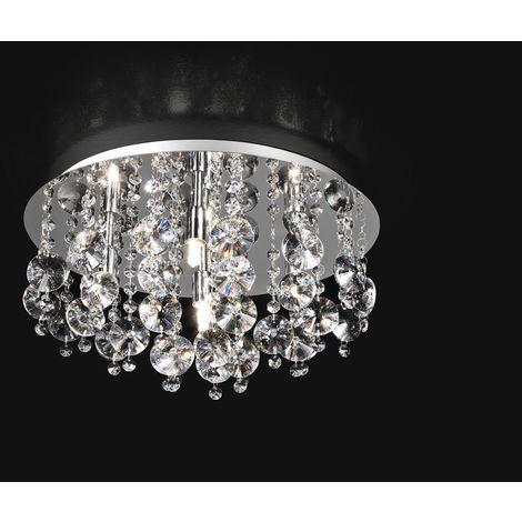 Lámpara de techo redonda con cristales 5 PERENZ 5844