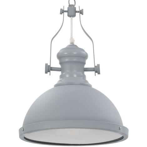 Lámpara de techo redonda gris E27