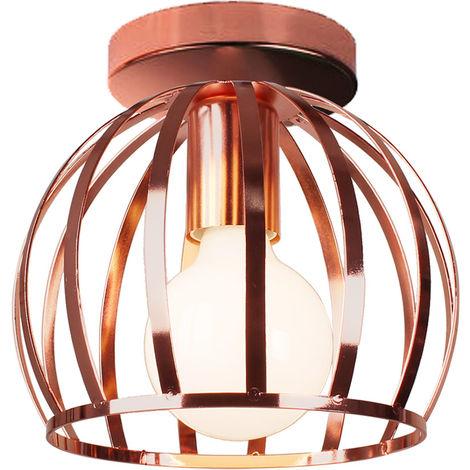 Lámpara de Techo Redonda Industrial Retro Lámpara de Araña para Dormitorio Cafe bar Negro Oro Rosa E27
