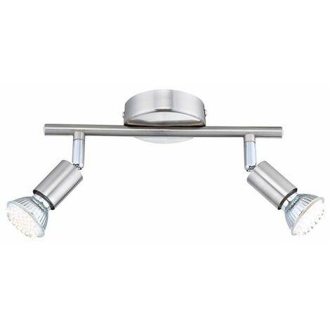 lámpara de techo reflector LED de luz de techo cubre comer níquel Globo matriz 57991-2
