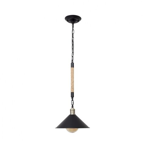 Lámpara de techo rústica-retro Soga