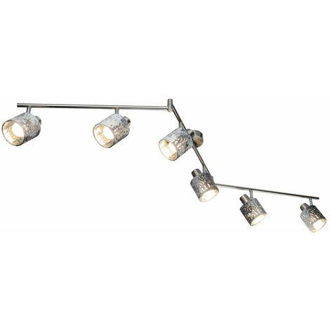 Lámpara de techo salón comedor decoración lámpara de terciopelo plata giratoria Globo 54122-6