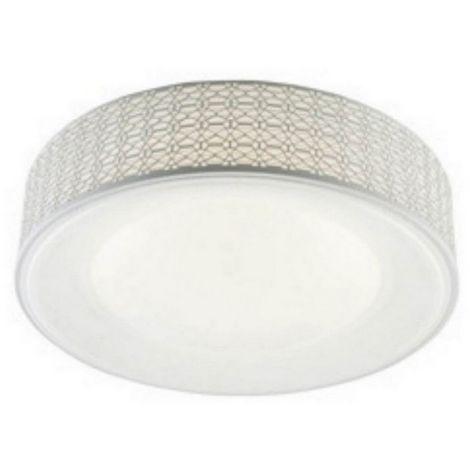 Lampara de Techo Salvo Plafon - Redonda - de Pared - Blanco en Metal, 40 x 40 x 12 cm, 1 x Tira LED x 25W, 2625LM, 4000K Luz Blanca Natural