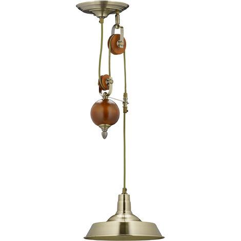 - Lámpara de techo, sistema de poleas, Longitud: 75 -135 cm, incl material montaje