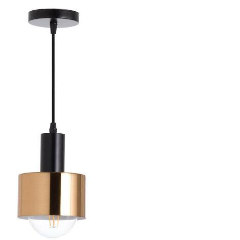 Lámpara de Techo Sopot Negro/Dorado 13x13x16cm 7hSevenOn Deco