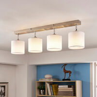 Lámpara de techo textil Mairi con bombillas LED