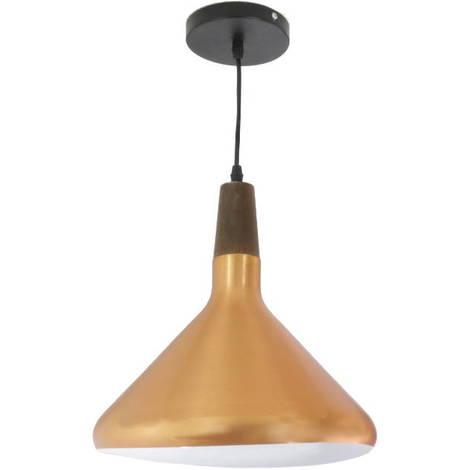 Lampara de techo tulipa color cobre E27