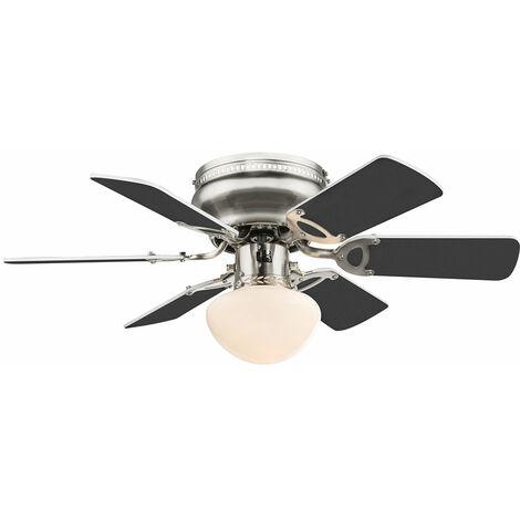 Lámpara de techo ventilador del radiador ventilador ajustado con control remoto y lámparas LED