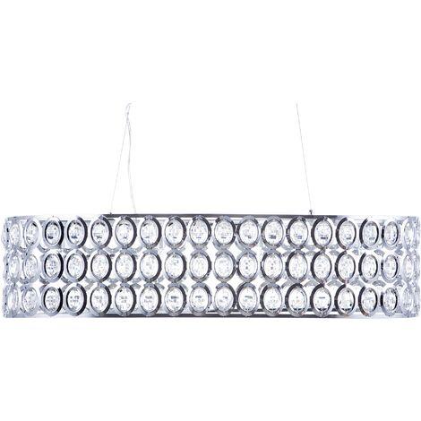 Lámpara de techo vidrio/cromo TENNA L