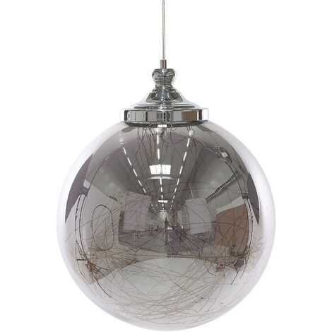 Lámpara de techo vidrio/plata BENI L