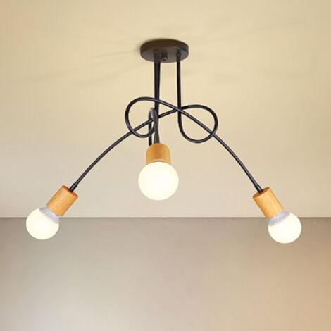 """main image of """"Lámpara de Techo Vintage DIY de 3 Lámparas de Hierro de metal de lámpara Industrial E27 Salón Retro de Comedor Hotel Hogar"""""""