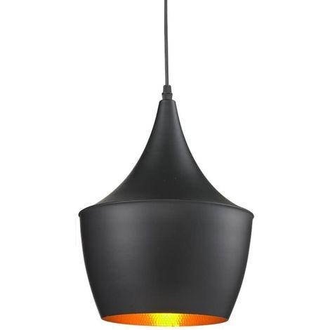 Lámpara de Techo Vintage Lámpara Colgante Industrial Moderna Negro Retro Lámpara de Metal para Loft Coffee Bar Kitchen