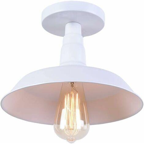 Lámpara de Techo Vintage Lámpara de Techo Industrial Edison Lámpara de Araña Blanca Retro Simple (Bombilla no Incluida)