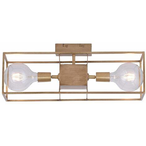Lámpara de techo vintage lámpara retro de latón jaula focos iluminación de cocina de pasillo