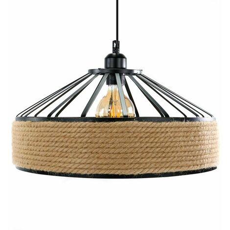 Lámpara de Techo West Negro / Marrón | IluminaShop
